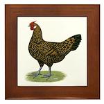 Hamburg Golden Spangled Hen Framed Tile