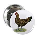 "Hamburg Golden Spangled Hen 2.25"" Button (10"