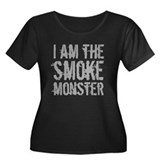 Smoke Monster Women's Plus Size Scoop Neck Dark T-