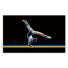 Gymnast on a Rainbow Beam Decal