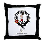 Dennistoun Clan Crest Badge Throw Pillow