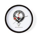 Dennistoun Clan Crest Badge Wall Clock