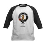 Davidson Clan Crest Badge Kids Baseball Jersey