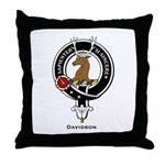 Davidson Clan Crest Badge Throw Pillow