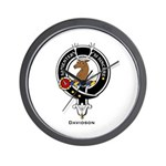 Davidson Clan Crest Badge Wall Clock