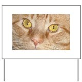Orange Tabby Cat Yard Sign