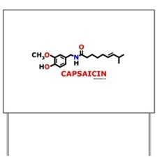 Molecularshirts.com Capsaicin Yard Sign