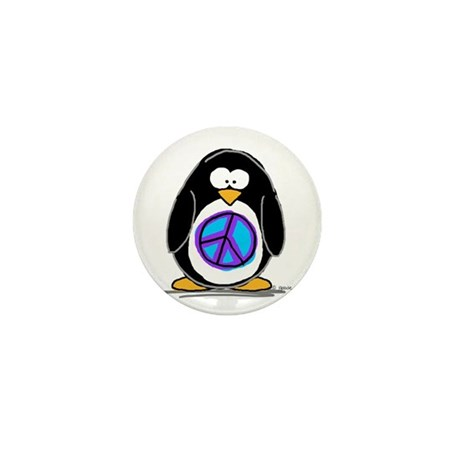 Peace penguin Mini Button (100 pack)