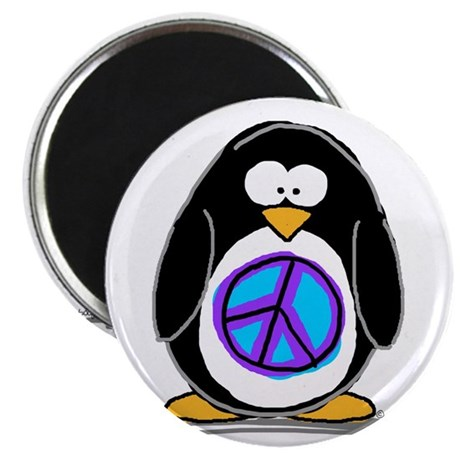 "Peace penguin 2.25"" Magnet (100 pack)"