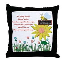 You Are My Sunshine Granddaughter Throw Pillow