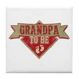 Pennant Grandpa To Be Tile Coaster