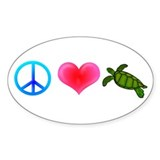Peace Love Sea Turtles Decal