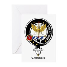 Carnegie Clan Crest Badge Greeting Cards (Package