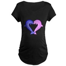 Colored Dolphin Heart T-Shirt