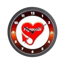 "Plymouth Heart - ""We'll Win You Over"" Wall Clock"