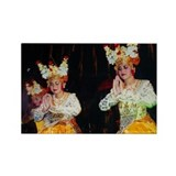 Balinese Dancers Rectangle Magnet