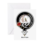 Butter Clan Crest Badge Greeting Cards (Package of