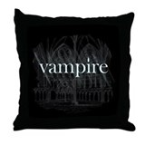 Vampire Gothic Throw Pillow
