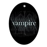 Vampire Gothic Ornament (Oval)