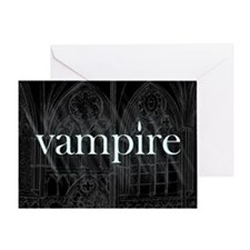Vampire Gothic Greeting Card