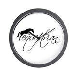 equestrian w/jumping horse Wall Clock