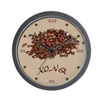 Kona Coffee Wall Clock