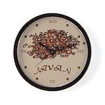 Javan Coffee Wall Clock