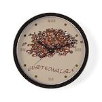 Guatemalan Coffee Wall Clock