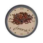 Ethiopian Coffee Wall Clock