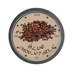 Blue Mountain Coffee Wall Clock