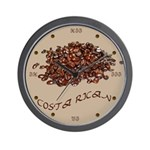 Costa Rican Coffee Wall Clock
