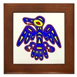 Cave Art Bird Framed Tile