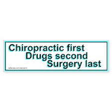Chiropractic First Bumper Bumper Sticker