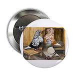 "Domestic Flight Pigeons 2.25"" Button (10 pack"