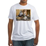 Domestic Flight Pigeons Fitted T-Shirt