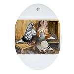 Domestic Flight Pigeons Oval Ornament