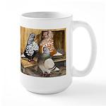 Domestic Flight Pigeons Large Mug