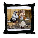 Domestic Flight Pigeons Throw Pillow