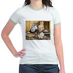 Domestic Flight Pigeons Jr. Ringer T-Shirt