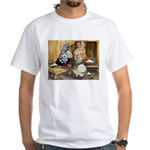 Domestic Flight Pigeons White T-Shirt