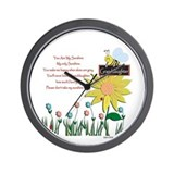You Are My Sunshine Granddaughter Wall Clock