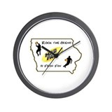Iowa Mad Pack Wall Clock
