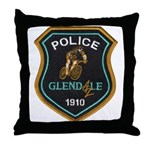 Glendale Police Bike Squad Throw Pillow