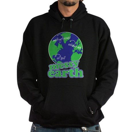 messy earth Hoodie (dark)