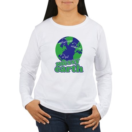 messy earth Women's Long Sleeve T-Shirt