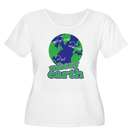 messy earth Women's Plus Size Scoop Neck T-Shirt
