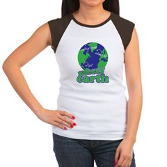 messy earth Women's Cap Sleeve T-Shirt
