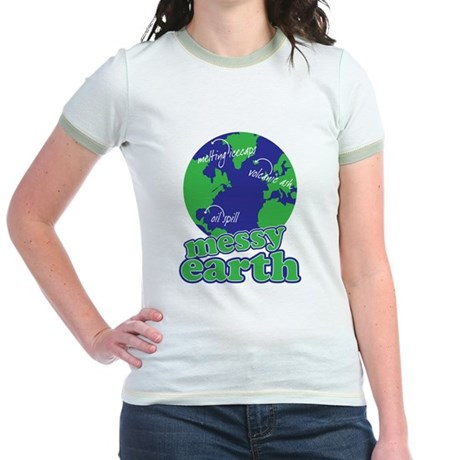 messy earth Jr. Ringer T-Shirt