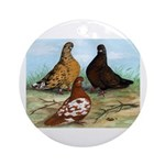 Shortfaced Tumbler Pigeons Ornament (Round)