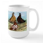 Shortfaced Tumbler Pigeons Large Mug